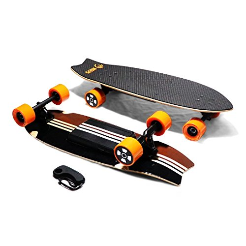 MEEPO Board Electric Skateboard Campus 2.0 13 Mile Range \u0026 18 MPH Speed, Wood  Electric
